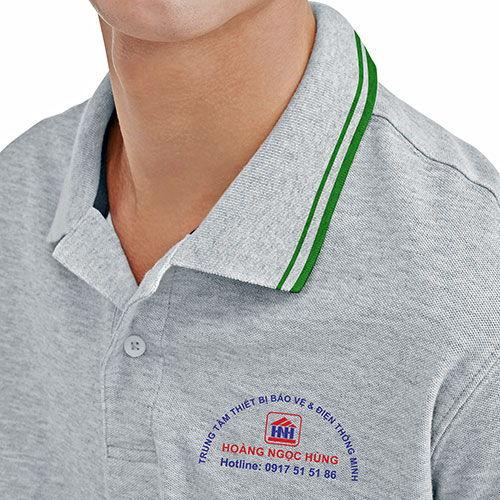 Logo in lên áo phông đồng phục nhân viên Hoàng Ngọc Hùng 02