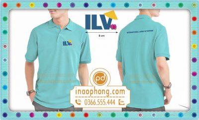 Thêu logo áo phông đồng phục thành viên ILV