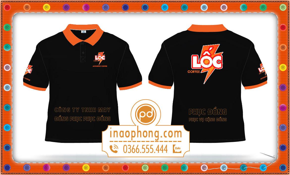 Mẫu thiết kế áo đồng phục quán cà phê Lốc
