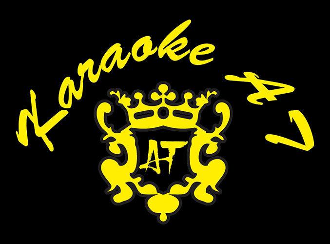 Hình in logo trên đồng phục áo thun nữ Karaoke AT 02