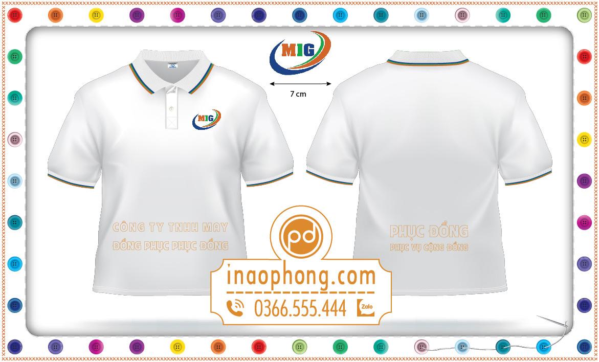 Mẫu thiết kế đồng phục áo phông công ty MIG 02