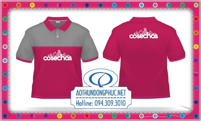 Áo thun đồng phục màu hồng Áo thun đồng phục nhân viên, may đồng phục áo thun phối Áo thun màu hồng, đồng phục doanh nghiệp