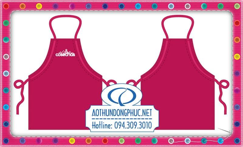 May tạp dề nhân viên May tạp dề đầu bếp, tạp dề màu hồng. tạp dề dây gút In tạp dề vải, nhận may tạp dề đồng phục